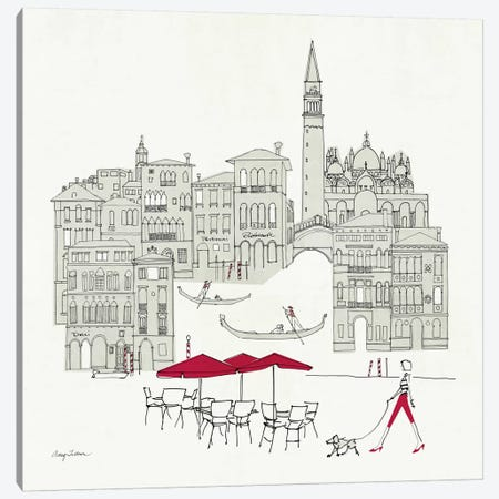 World Cafel IV - Venice Red Canvas Print #WAC142} by Avery Tillmon Art Print