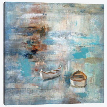 Calm Sea Canvas Print #WAC1432} by Silvia Vassileva Canvas Wall Art