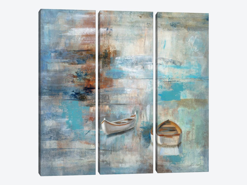 Calm Sea by Silvia Vassileva 3-piece Canvas Art