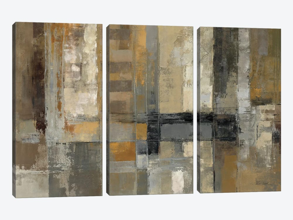 One Way Street  by Silvia Vassileva 3-piece Canvas Print