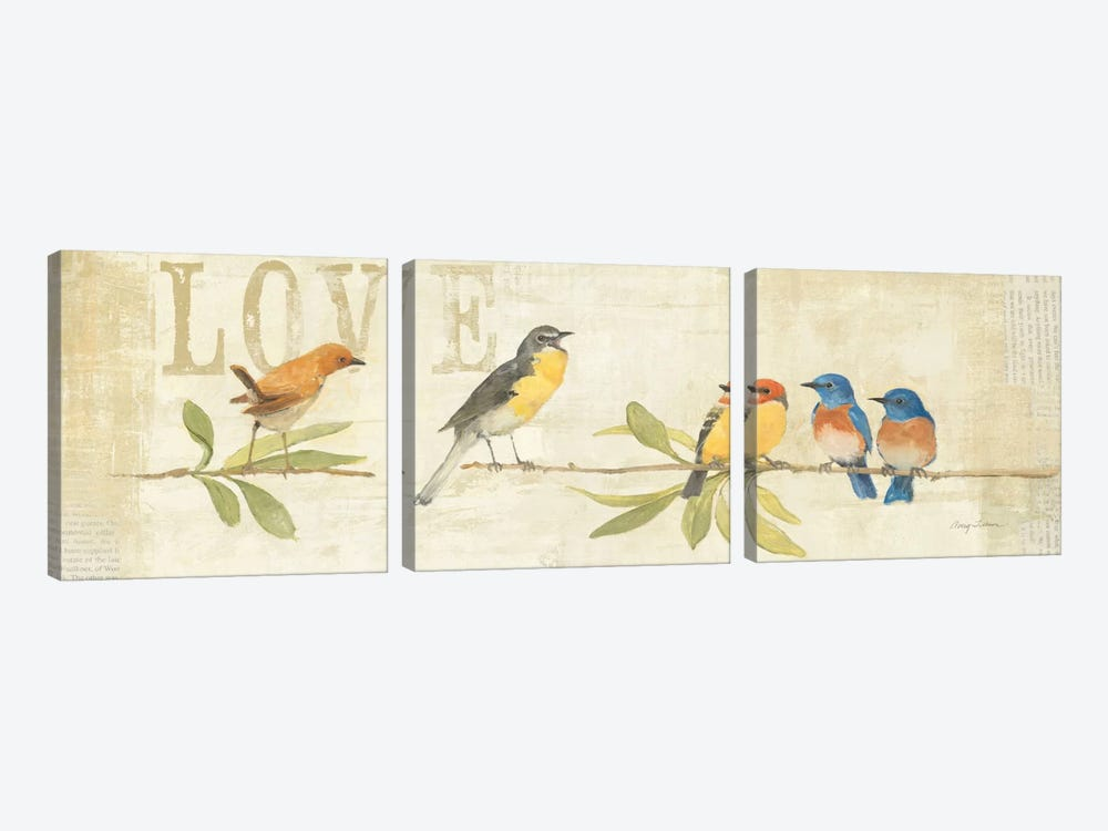 Adoration of the Magpie Panel I  by Avery Tillmon 3-piece Canvas Wall Art