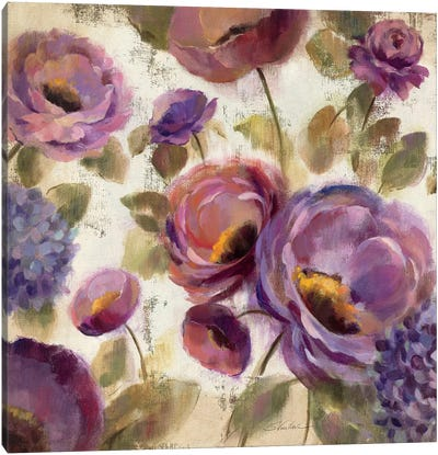 Blue and Purple Flower Song II Canvas Art Print