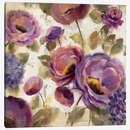 Blue and Purple Flower Song II  Canvas Print #WAC1441} by Silvia Vassileva Art Print
