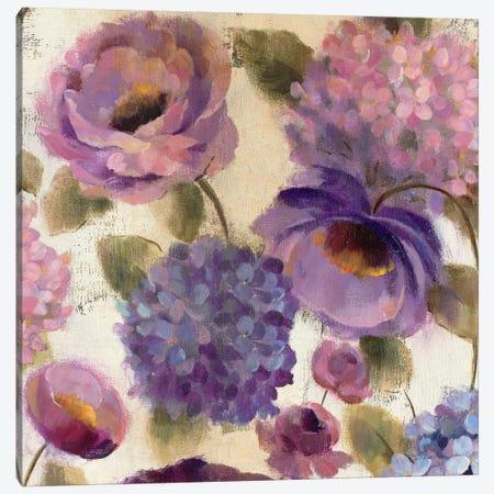 Blue and Purple Flower Song III  Canvas Print #WAC1442} by Silvia Vassileva Canvas Print