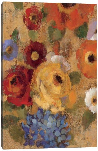 Jacquard Floral I Crop  Canvas Print #WAC1443