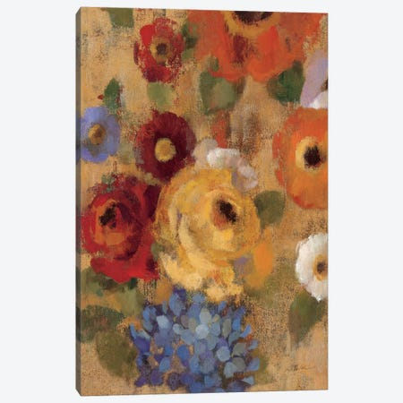 Jacquard Floral I Crop  Canvas Print #WAC1443} by Silvia Vassileva Canvas Print