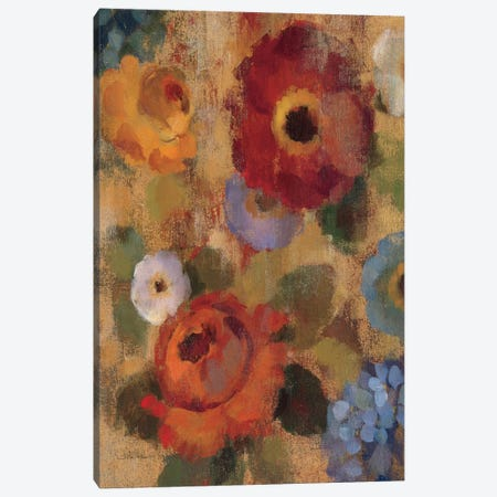 Jacquard Floral II  Canvas Print #WAC1444} by Silvia Vassileva Canvas Art