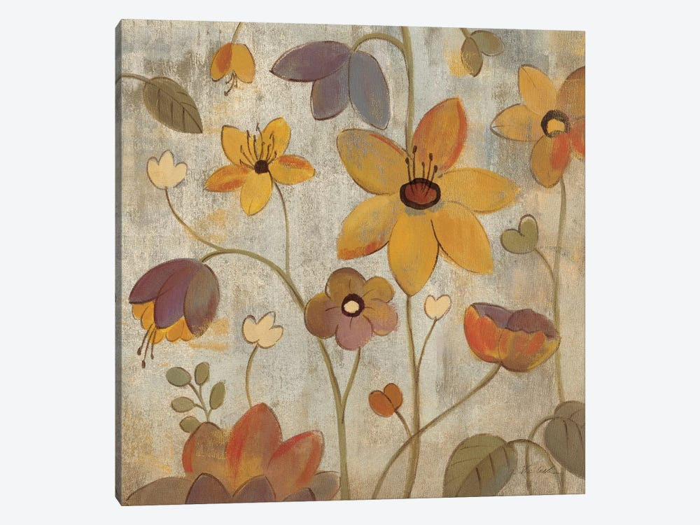 Floral Song III  by Silvia Vassileva 1-piece Canvas Wall Art