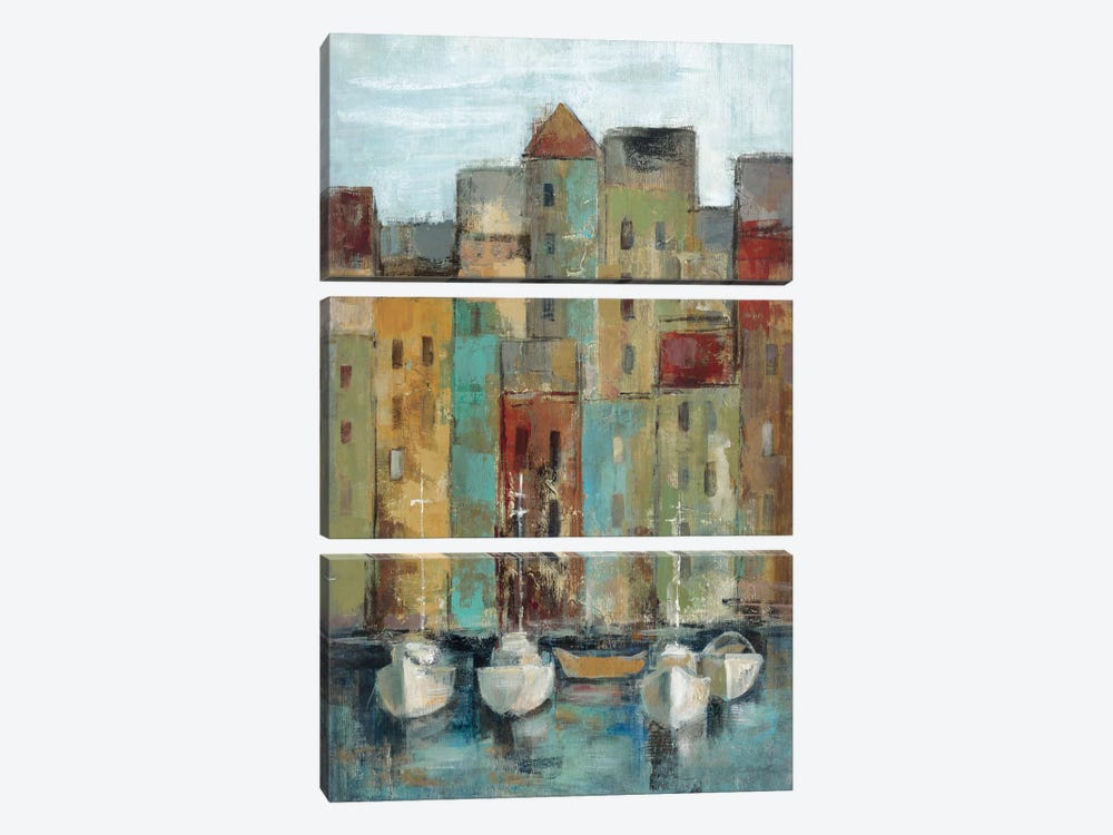 Old Town Port I  by Silvia Vassileva 3-piece Canvas Artwork