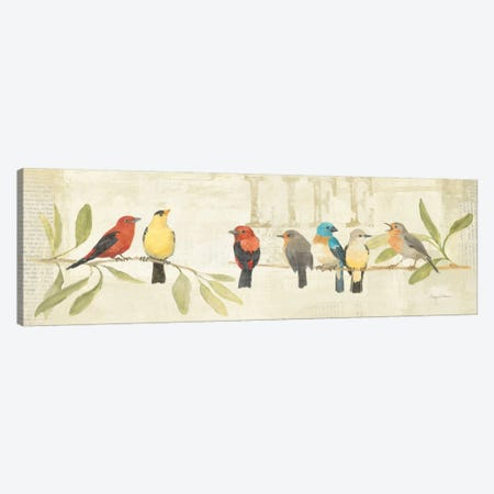 Adoration of the Magpie Panel II  Canvas Print #WAC144} by Avery Tillmon Canvas Artwork