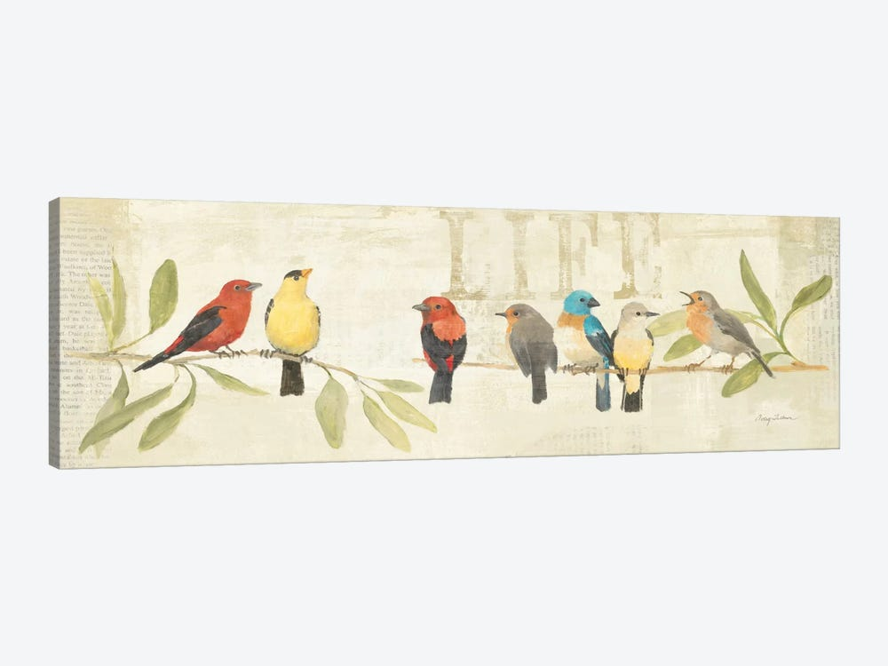 Adoration of the Magpie Panel II  by Avery Tillmon 1-piece Art Print