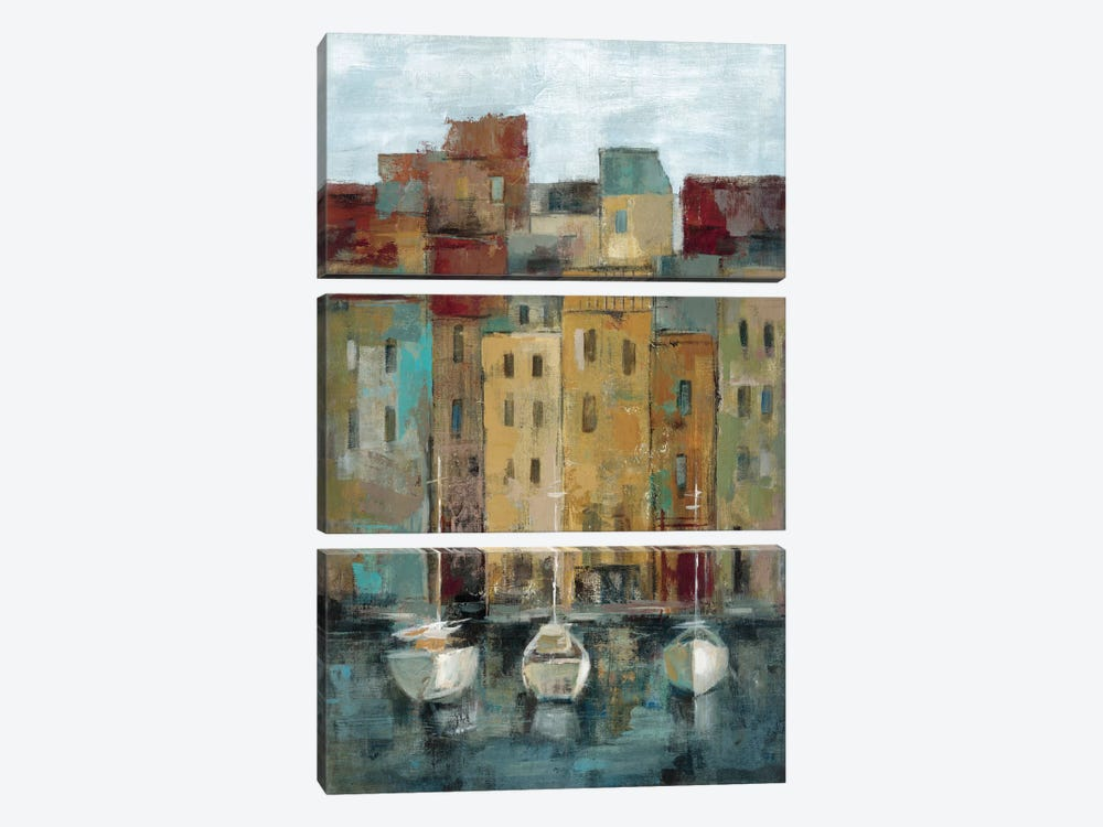 Old Town Port II  by Silvia Vassileva 3-piece Canvas Wall Art