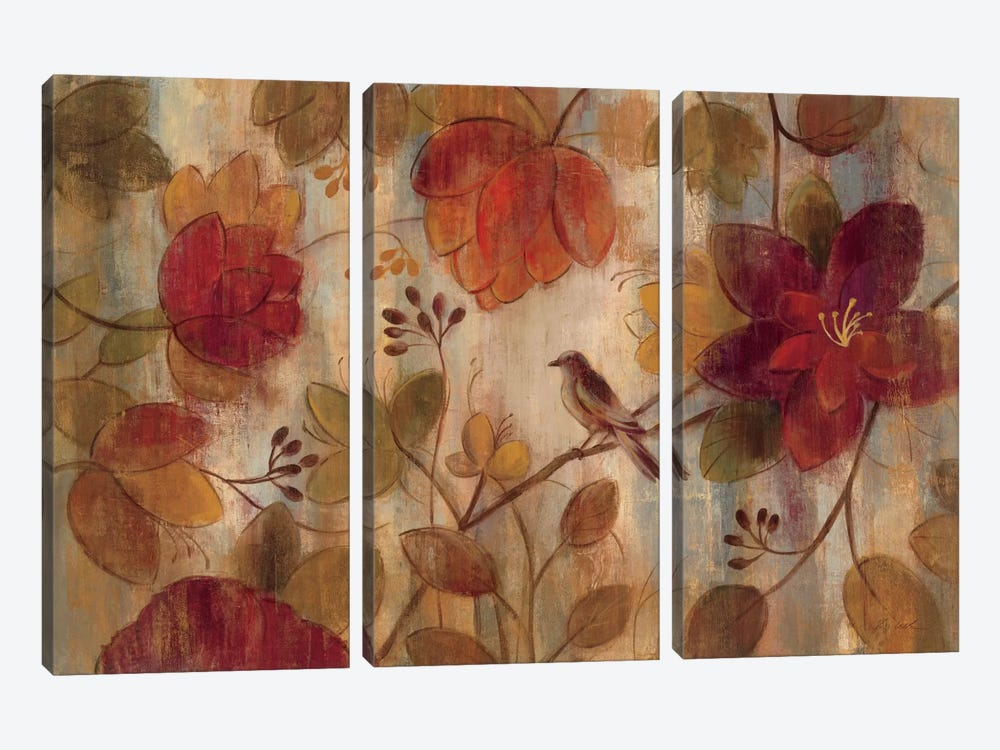 Exotic Garden  by Silvia Vassileva 3-piece Canvas Print
