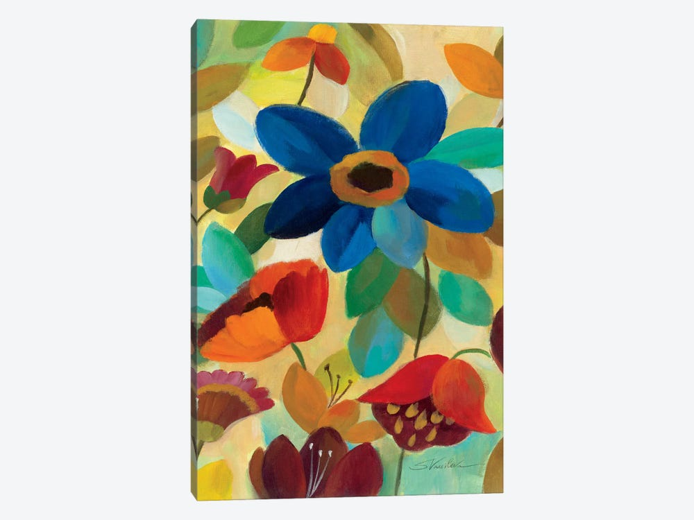 Summer Floral Panel I by Silvia Vassileva 1-piece Canvas Artwork