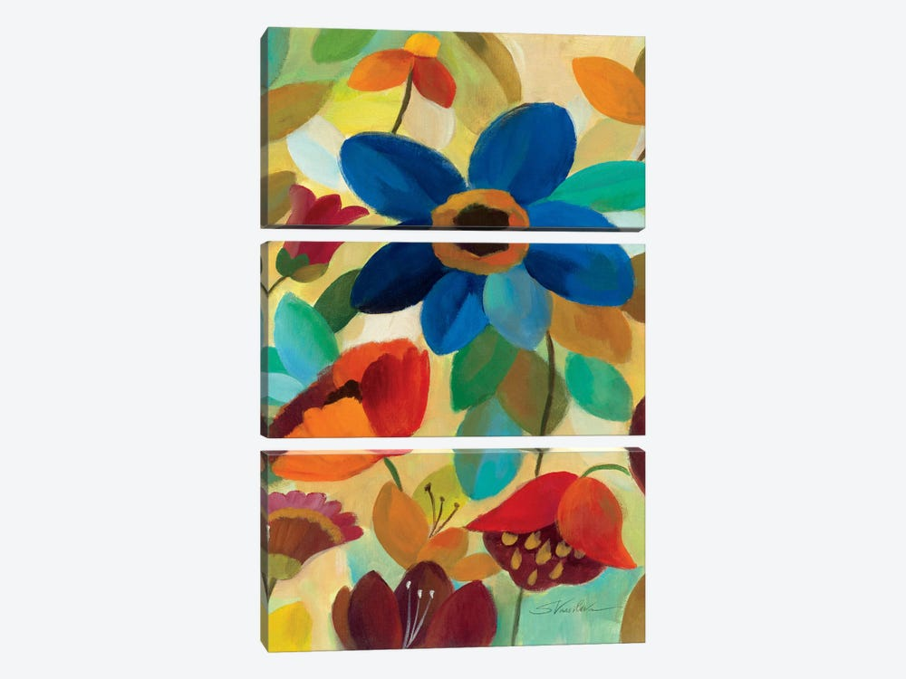 Summer Floral Panel I by Silvia Vassileva 3-piece Canvas Wall Art