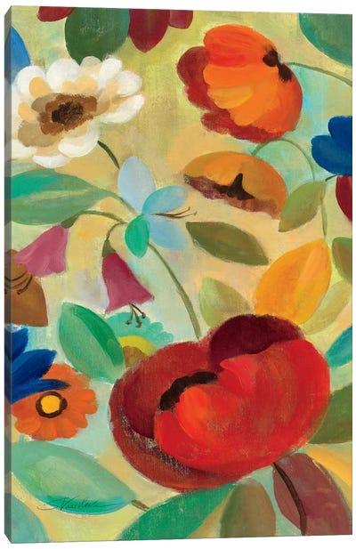 Summer Floral Panel II  Canvas Print #WAC1457