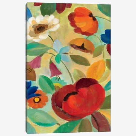 Summer Floral Panel II  Canvas Print #WAC1457} by Silvia Vassileva Canvas Art Print