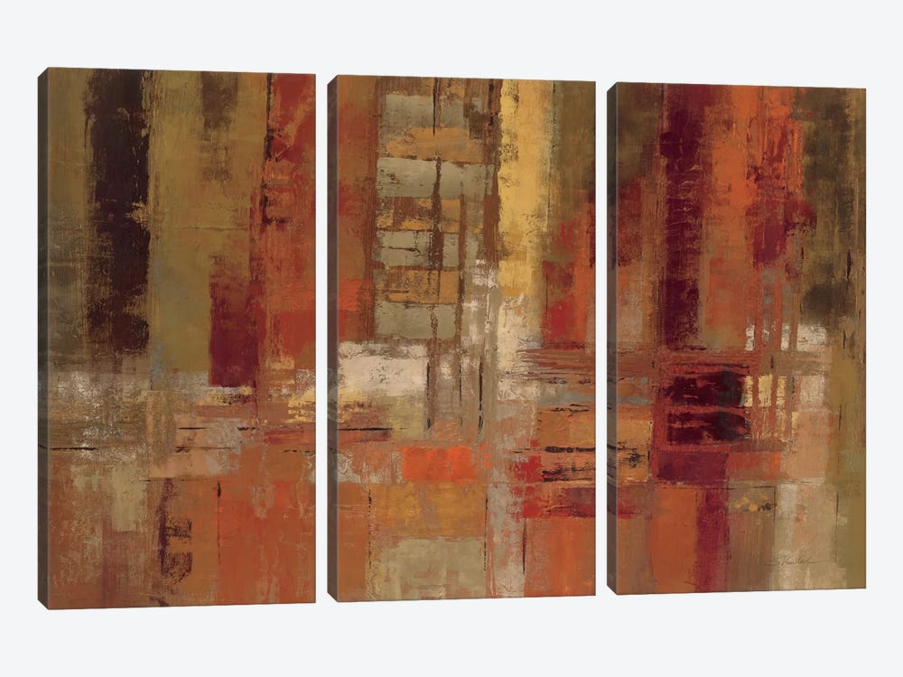 Sunset Street by Silvia Vassileva 3-piece Art Print