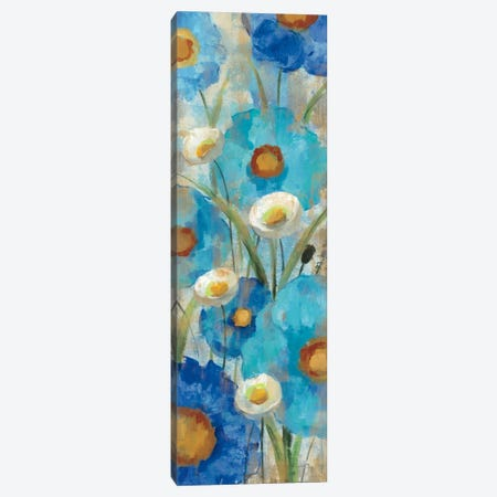 Sunkissed Blue and White Flowers I Canvas Print #WAC1461} by Silvia Vassileva Art Print