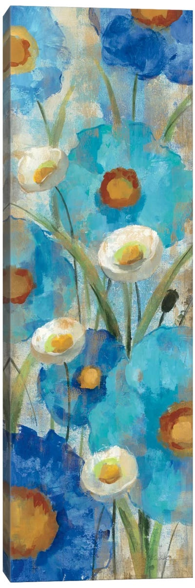 Sunkissed Blue and White Flowers I Canvas Print #WAC1461