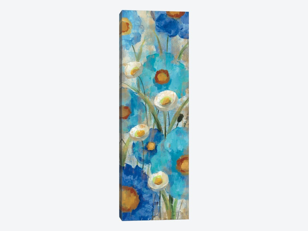 Sunkissed Blue and White Flowers I by Silvia Vassileva 1-piece Canvas Art