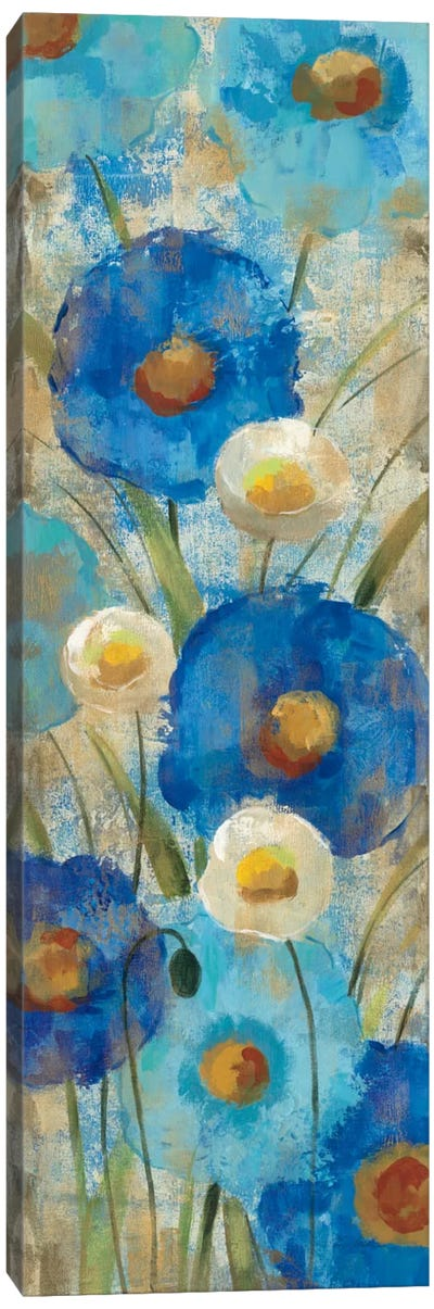 Sunkissed Blue and White Flowers II Canvas Art Print