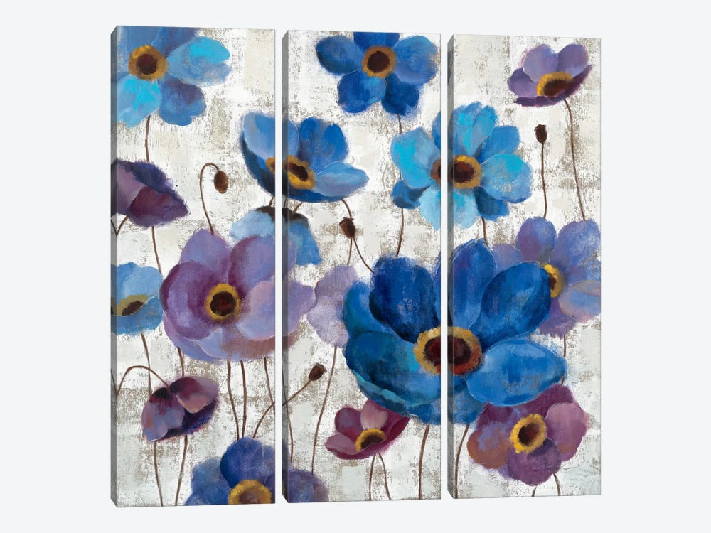 Bold Anemones I by Silvia Vassileva 3-piece Canvas Artwork