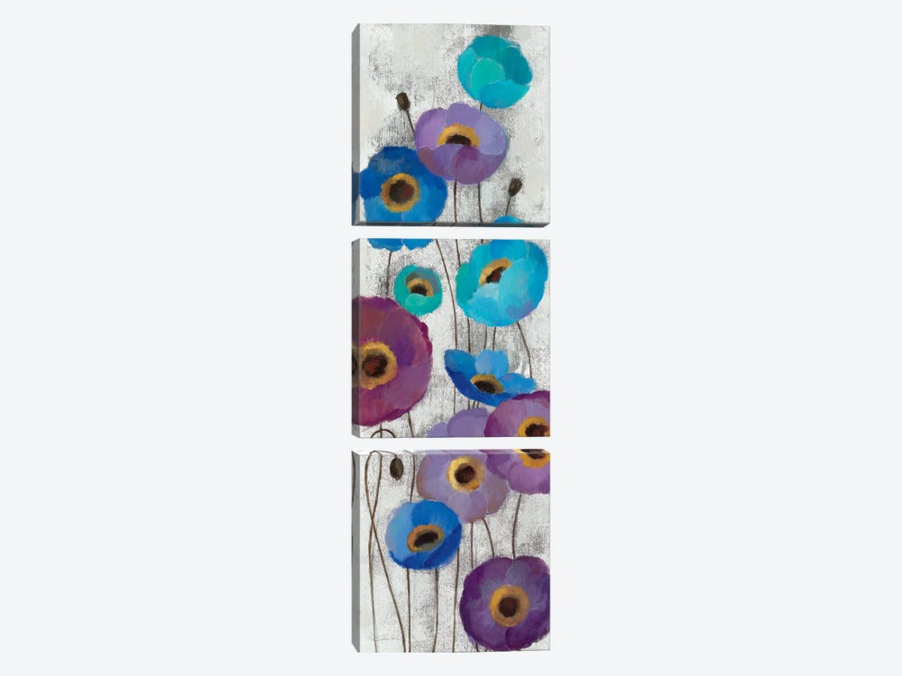 Bold Anemones Panel II by Silvia Vassileva 3-piece Canvas Print