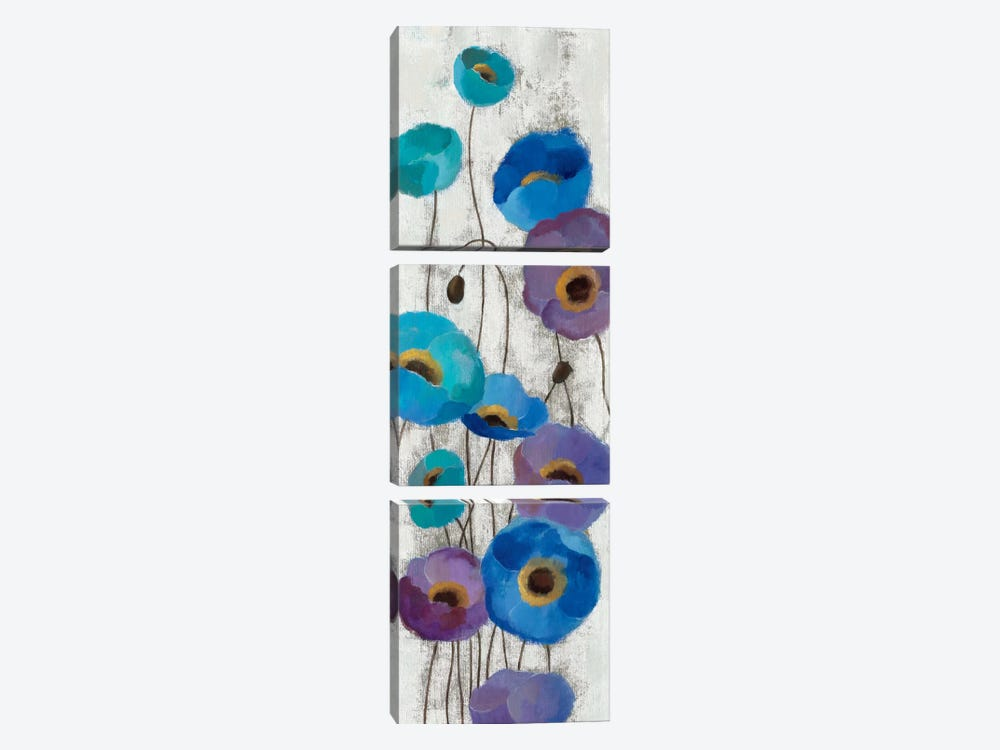 Bold Anemones Panel III by Silvia Vassileva 3-piece Canvas Artwork