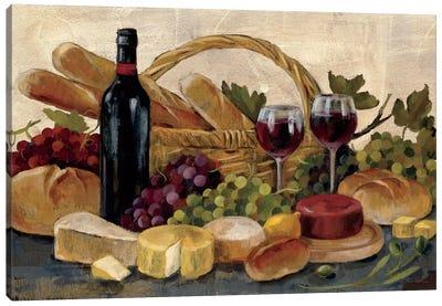 Tuscan Evening Wine  Canvas Art Print