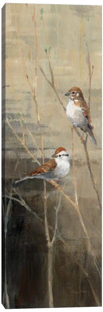 Sparrows at Dusk II  Canvas Print #WAC146