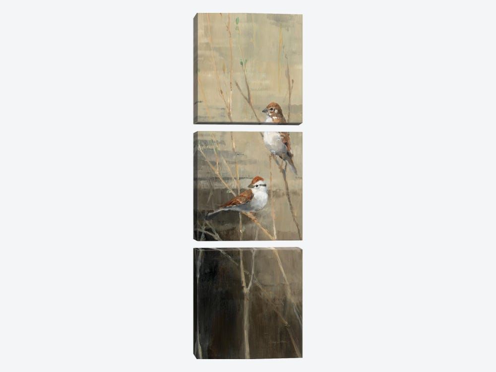 Sparrows at Dusk II by Avery Tillmon 3-piece Art Print