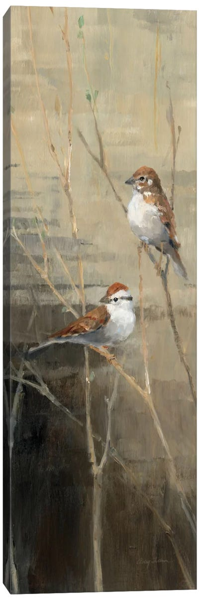 Sparrows at Dusk II  Canvas Art Print