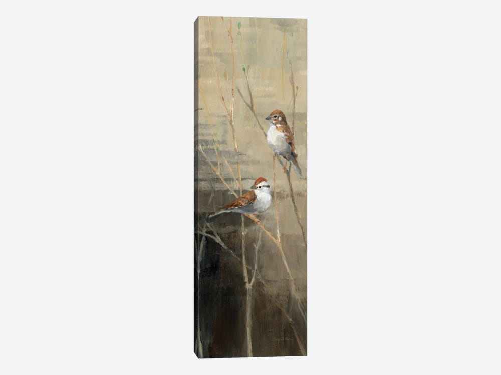 Sparrows at Dusk II  by Avery Tillmon 1-piece Art Print