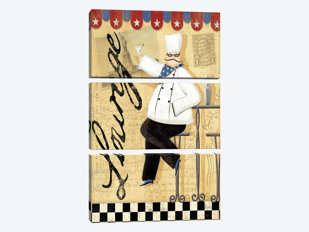 Chef's Break II 3-piece Canvas Art Print