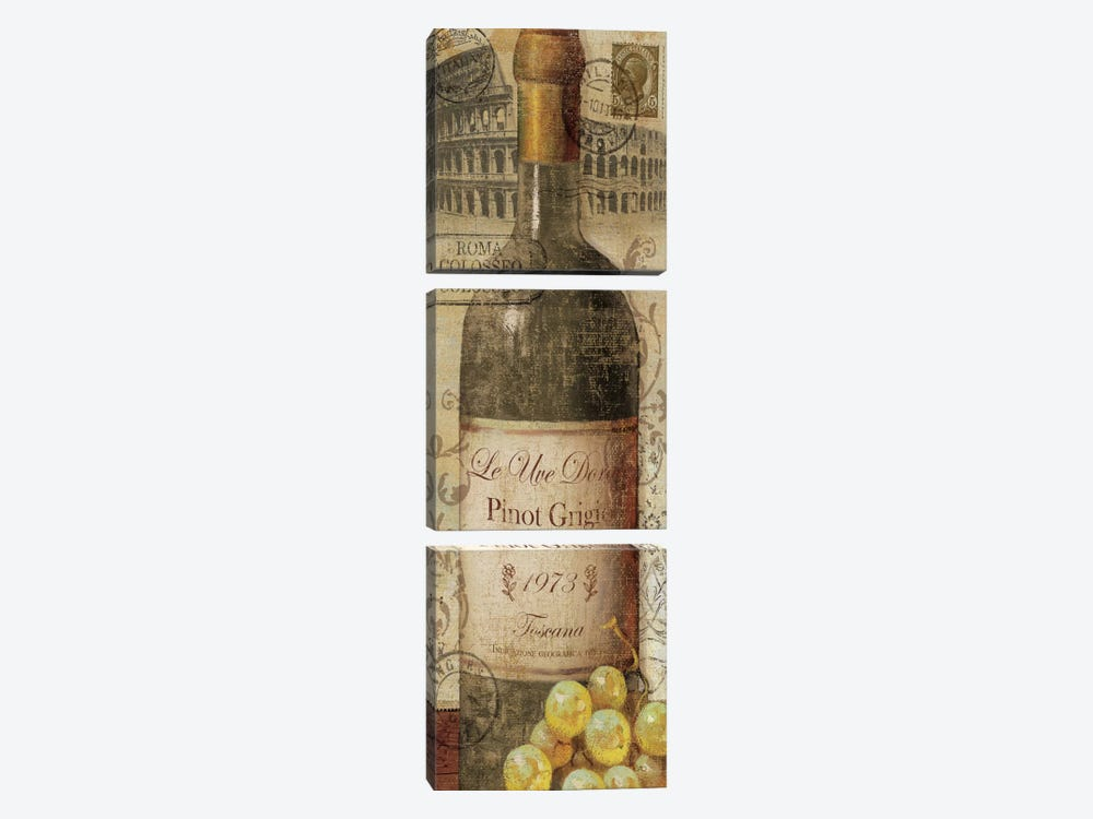 European Wines I  by Veronique 3-piece Canvas Art Print