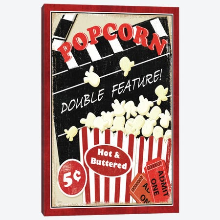 At the Movies I Canvas Print #WAC1495} by Veronique Canvas Print