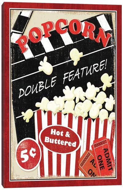 At the Movies I Canvas Art Print
