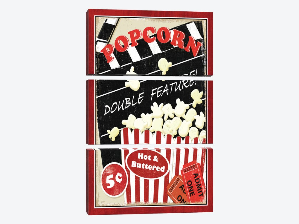 At the Movies I by Veronique 3-piece Canvas Art Print