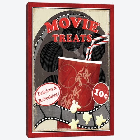 At the Movies II Canvas Print #WAC1496} by Veronique Art Print