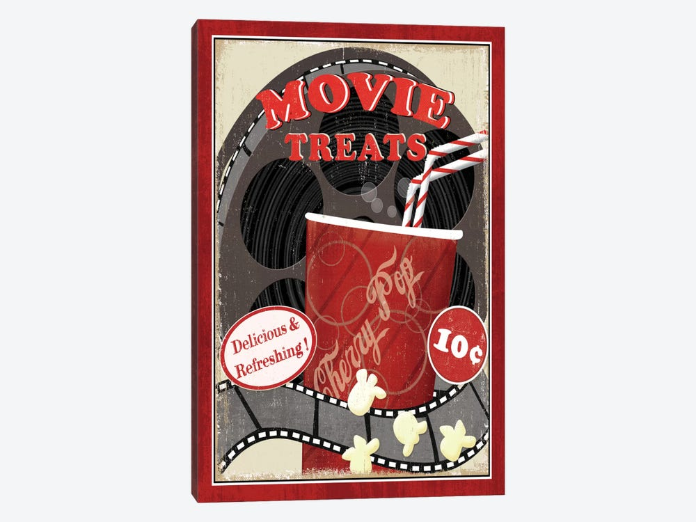 At the Movies II 1-piece Canvas Artwork