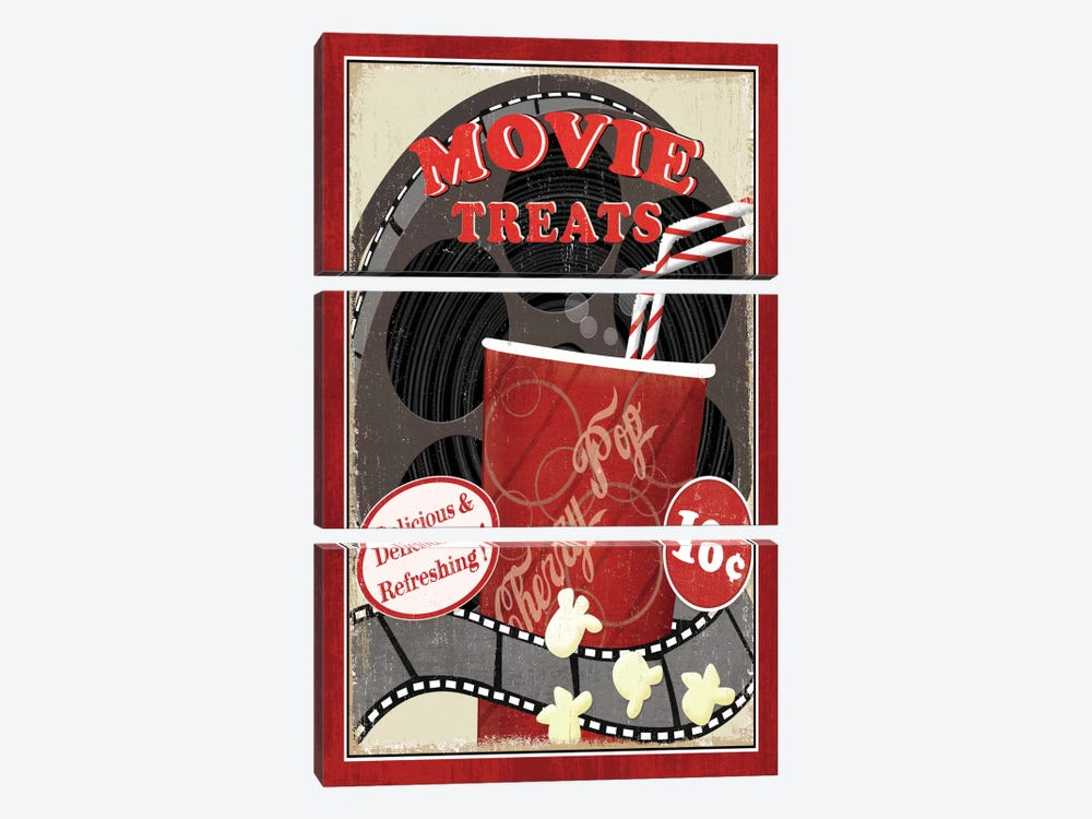 At the Movies II 3-piece Canvas Wall Art