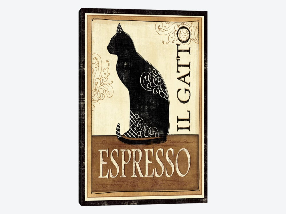 Il Gatto by Veronique 1-piece Canvas Print
