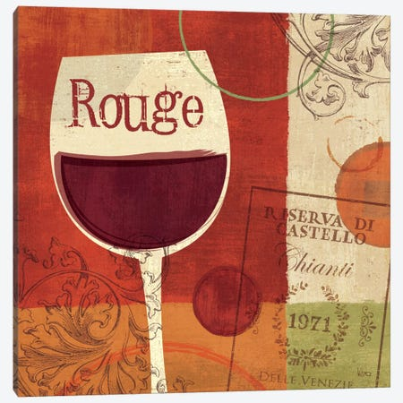 Cheers! Rouge Canvas Print #WAC1501} by Veronique Canvas Artwork
