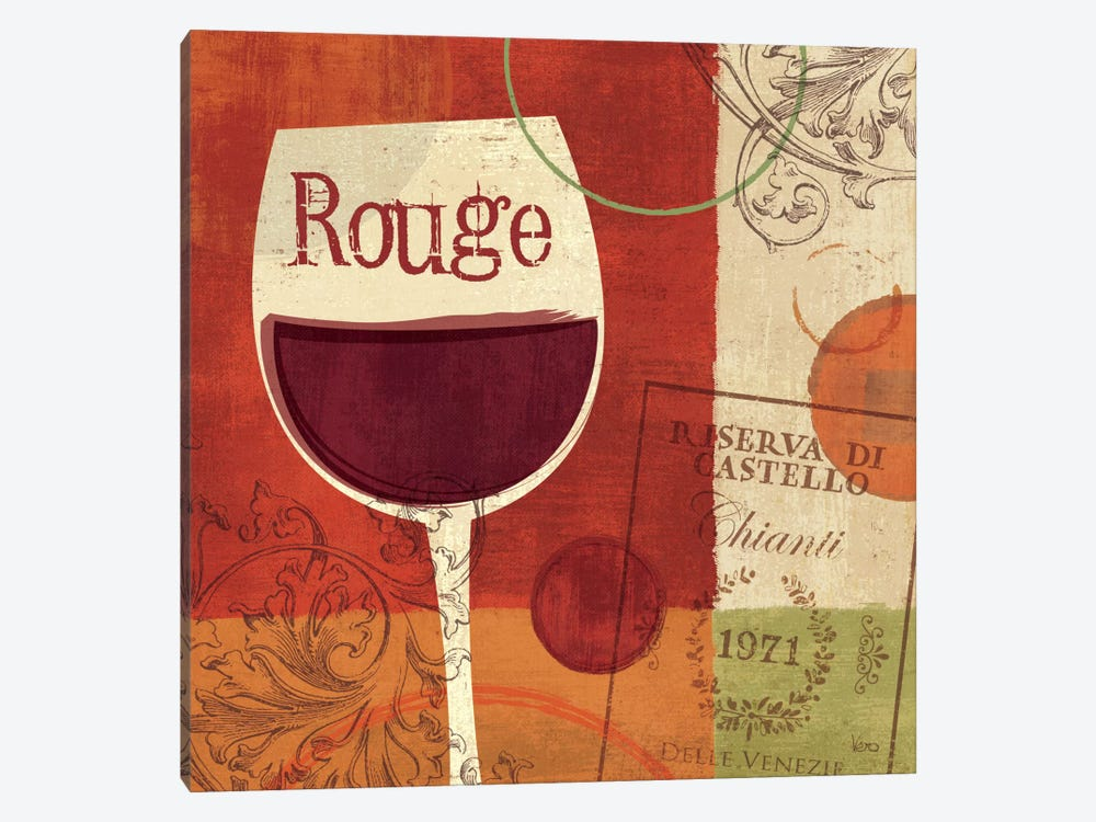 Cheers! Rouge by Veronique 1-piece Art Print
