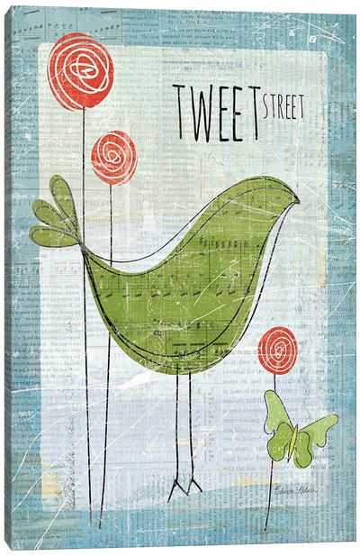 Tweet Street Canvas Art Print