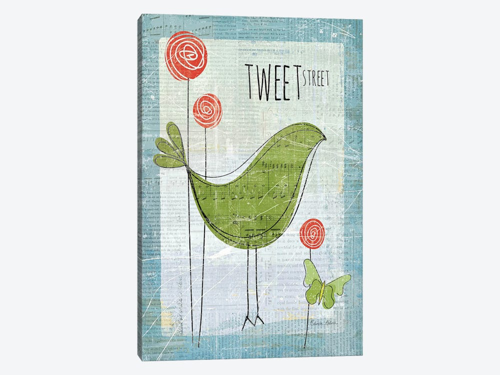 Tweet Street by Belinda Aldrich 1-piece Canvas Artwork