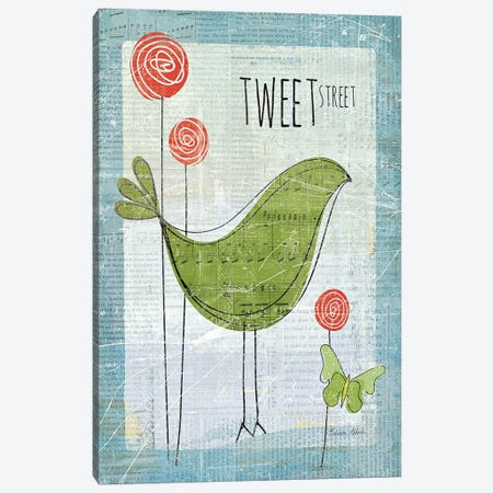 Tweet Street 3-Piece Canvas #WAC150} by Belinda Aldrich Canvas Wall Art