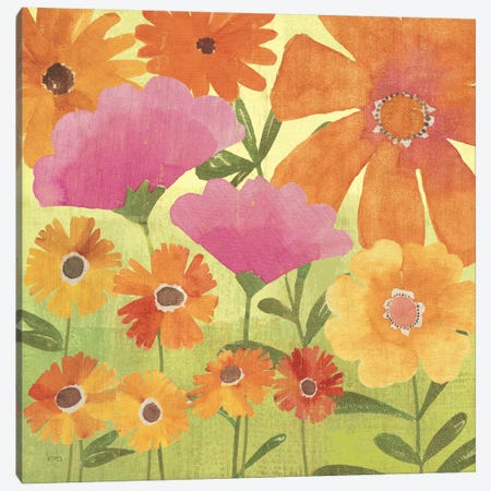 Spring Fling I Canvas Print #WAC1514} by Veronique Canvas Wall Art