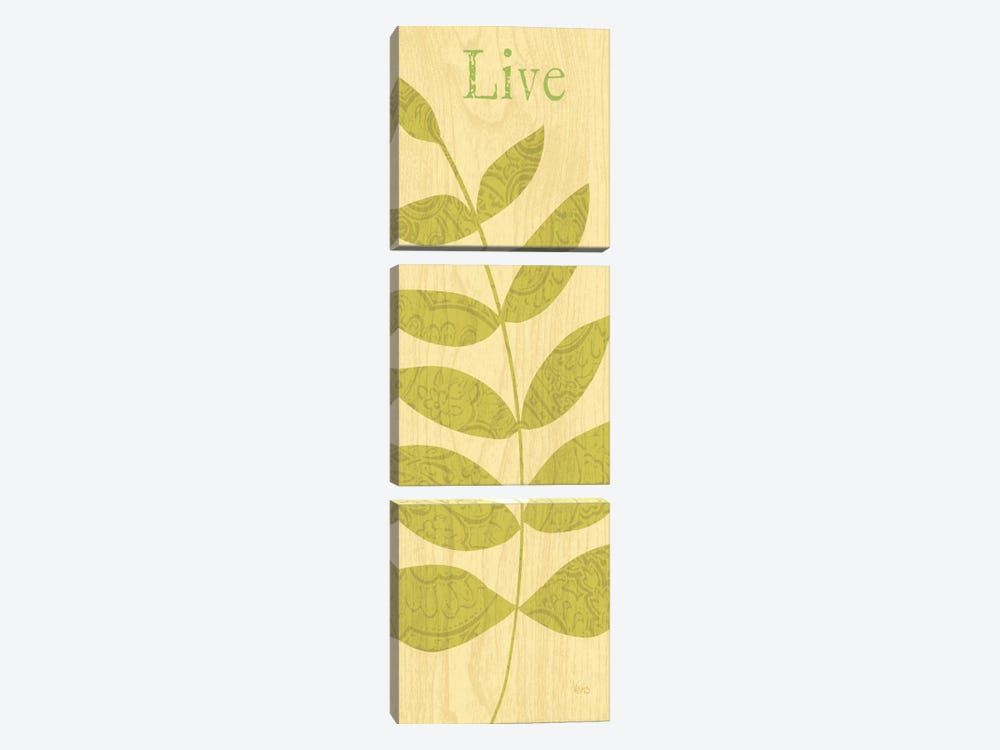 Nature Trio - Live by Veronique 3-piece Canvas Art Print